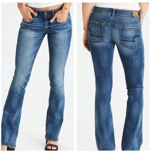 American eagle kick boot blue tides stretch jeans